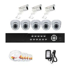 "Complete 8 Channel CCTV DVR (500G HD) Surveillance Video System Package with (8) x 560 TV Lines 1/3"" Sony CCD Vari-focal Lens Indoor & Outdoor Security Cameras. by Gw. $1055.00. Package Includes: GW2548SV-N DVR with 500G HDD; Remote Control and mouse; 3 x GW704R: 1/3"" SONY CCD Outdoor Cameras; 5 x GW105H: 1/3"" SONY CCD Indoor Cameras; 2 x GW125CAW: 125 feet pre-made cable BNC; 2 x GW100CAW: 100 feet pre-made cable BNC; 4 x GW60CAW: 60 feet pre-made cable BNC; 1 x 12V5A Po..."