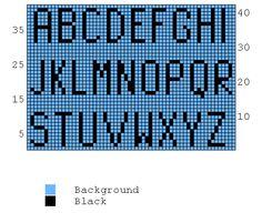 DIY søster!   Alphabet knitting chart  @Marianne Glass grøgaard