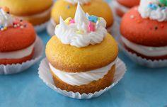 Two-Layer Mini Cupcakes