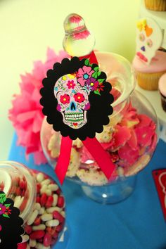 Day of the Dead Party Tag