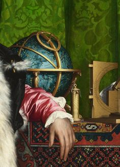 Hans Holbein the Younger, The Ambassadors (detail), 1533 (x)
