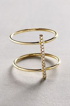 Liven Co. Diamond Cuff #Ring in 14k Gold #anthrofave