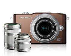 My Olympus PEN Mini (E-PM1)  14-42mm + 40-150mm double lens kit,  cooper bag, SDHC Card 8GB, lens cleaning set