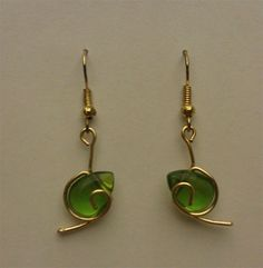 Zelda inspired Kokiri Spiritual Stone earrings by Clark Wallace #gaming