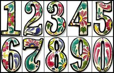 "1 Hand Painted House Number - 4 1/2"" Metal Address from Recycled Steel Drum - AD-100-4W on Etsy, $7.95"