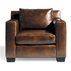 Special Order Design:  Ralph Lauren Contemporary Brown Leather Armchair