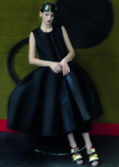 Timeless  Georgina Stojiljkovic by Sarah Moon In Colorful Realm