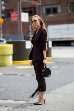 And Now, Something For The Corporate Women #refinery29  http://www.refinery29.com/corporate-outfits#slide-4  Deep plum is one of our favorite hues of the season. It's an unexpected color for summer, but still feels light and fresh....