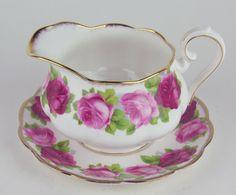 Gravy Boat w Saucer Royal Albert Old English Rose Bone China England | eBay