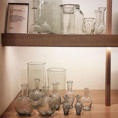 Glass on the #Korean coastline! We're in #centumcity with #shinsegae. Find a variety of our #handblownglass on windswept seaside shelves #lasoufflerie  #worldtravel #interiordesign