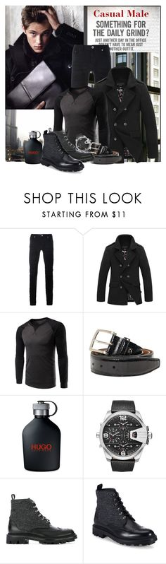 """Casual Male"" by idetached ❤ liked on Polyvore featuring Kenneth Cole, Diesel Black Gold, HUGO, Diesel, Giorgio Armani, men's fashion, menswear, polyvorecommunity and menswearessential"
