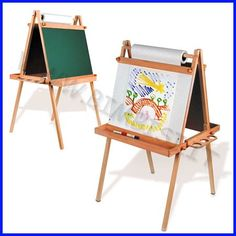 by CAPPELLETTO handmade_italian_easels Cavalletto pittura bifacciale c/lavagna 61x70x118h  www.easels.it