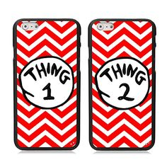 iPhone 6 6S Case, Kitron (TM) 2 X Cute Red Waves Thing 1 ...