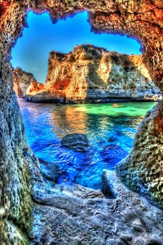 Caves in Lagos, Portugal
