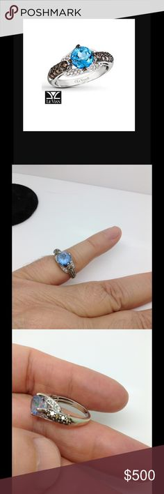 LeVian 14k sapphire diamond ring See all photos. Hallmark has been removed. Firm price LeVian Jewelry Rings