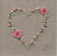 Jo Butcher, Embroidery Artist - Rose Heart