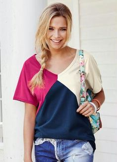 Sewing - Make Your Own Clothes - Sewing Method Summer Dress Outfits, Cute Girl Outfits, Casual Outfits, Make Your Own Clothes, T Shirt Diy, Sewing Clothes, Corsage, Refashion, Women's Fashion Dresses
