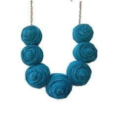 Rosette Necklace on Fab.com - Only $24 for a super cute statement piece!
