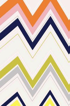 Zig Zag retro colour print