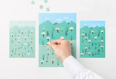 2015 Sticker-Calendar by Nendo