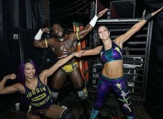 💪 #SashaBanks #SashaKrew #LegItBoss #TheBoss #Bayley #WomensWrestling #Apollo #WWE Star Citizen, Wwe Backstage, Wwe Sasha Banks, Nia Jax, Wwe Female Wrestlers, Finn Balor, Charlotte Flair, Wwe Womens, Women's Wrestling