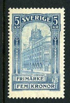 SVERIGE F65 5 kr Posthus 1903