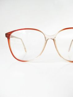 8a8f9036cdc Vintage Round Glasses Womens Eyeglasses 1980s Apricot Orange Circular P3  Hipster Eyeglass Frames Optical 80s Oversized Brown Indie Classic