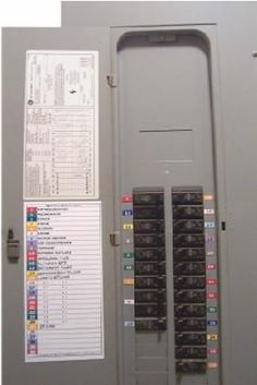 pin by marrianne nelsen russell on graphicdesignstuff breaker boxcolor coded circuit breaker electric panel labels and directory schedule power energy, solar power