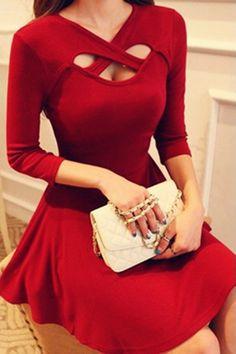 Супер красное платье