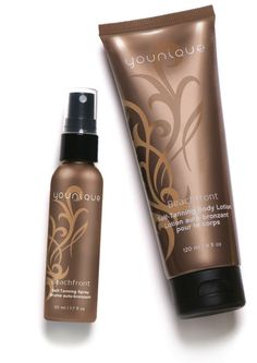 Get an instant, natural sun-kissed look minus the sun's harmful rays with the Younique Beachfront Self-Tanning Collection! Younique's two self-tanning products allow you to easily achieve a perfect bronze without leaving the house: Beachfront Self-Tanning Body Lotion and Beachfront Self-Tanning Spray.  Youniqueproducts.com/loris