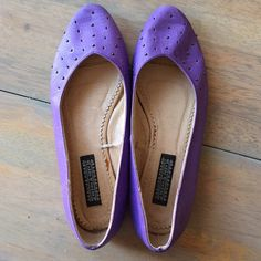Urban Outfitters Purple studded flats Leather flats with pewter studs Urban Outfitters Shoes Flats & Loafers
