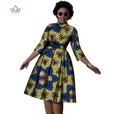 Decoration: Zippers Neckline: O-Neck Estimated Delivery Dresses L… Remilekun - African Styles for Ladies Short African Dresses, Latest African Fashion Dresses, African Print Dresses, African Print Fashion, Africa Fashion, African Prints, African Attire, African Wear, Chitenge Dresses