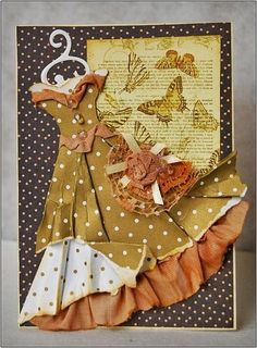 Paper Dress Mocha Caramel