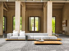 New Outdoor Furniture Collections from POINT Spanish outdoor furniture company POINT has been around for close to 100 years, producing high-quality collections that focus on craftsmanship and modern. Outdoor Lounge, Outdoor Rooms, Outdoor Decor, Outdoor Seating, Modular Lounges, Multipurpose Furniture, Canapé Design, Garden Sofa, Garden Furniture