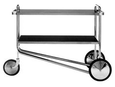 A tea trolley by Marcel Breuer. My cat would eventually use this as a sleeping spot. Bauhaus Furniture, Art Furniture, Contemporary Furniture, Vintage Furniture, Furniture Design, Marcel Breuer, Tea Trolley, Tea Cart, Le Tube