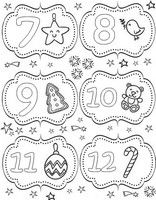 Adult coloring page From 7 till 12 December