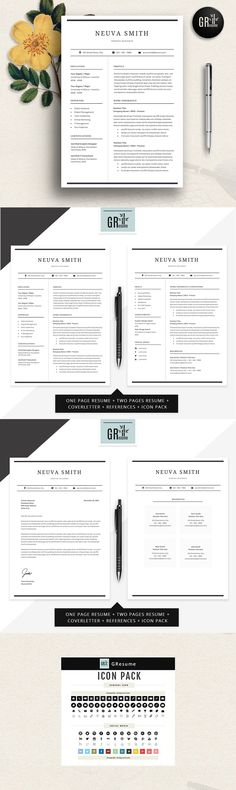 Resume Template Resume Builder CV Template by KingdomOfDesigns - does microsoft word have a resume template