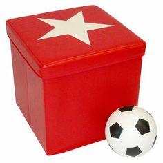 RiverRidge Kids Storage Ottoman - Red