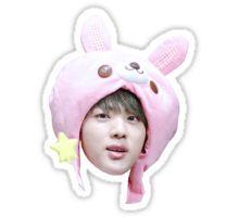 Jin Bunny Hat | BTS Pegatina