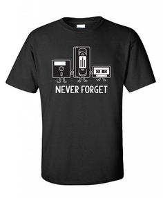 Never Forget Retro Funny Retro T Shirt S Black *Click image to check it out* (affiliate link)