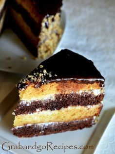 "Day and Night Cake- торт ""День и Hочь"" | Russian desserts, Russian cakes, Russian recipes"
