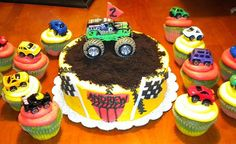 Monster Truck Cake & Cupcakes by Creative Cakes by Sarah, via Flickr