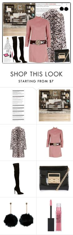 """Elegant outfit by rousou"" by rousou ❤ liked on Polyvore featuring Arche, Tribecca Home, Christopher Kane, Pierre Cardin, Topshop, Maybelline and Jouer"