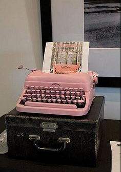 Pink. Typewriter. My. One. True. Love. Right. Here.
