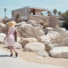 German photographer Stephanie Kloss visited some of California's iconic Mid-Century Modern homes to create this series of 1940s-inspired images