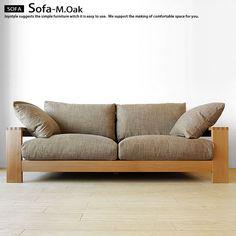 March-oak 3Psofa ナラ無垢材をぜいたくに使用したウッドフレームソファ!フェザークッションで座り心地抜群です 331,800円
