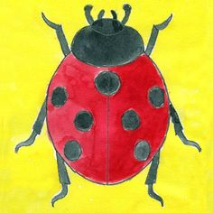 ladybug draw drawing painting artprojectsforkids projects insect easy abstract