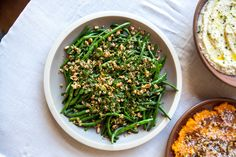 One of the veggie side dishes from our cooking class, these green beans are vibrant in color and still have a little crunch. Blanch them the night before and assembly on the day of will take no tim...