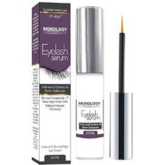 Eyelash Growth Serum 3.5 ml - BEST Scientific Lash Enhancing Treatment for Longer, Fuller Eyelashes & Thicker Eyebrows - No Irritation, Dermatologist Tested Product from Skinology Cosmeceuticals