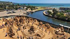 Sand sculptures by Kurt Stanley Melbourne Victoria, Victoria Australia, Sand Sculptures, Sand Art, New Zealand, Sculpting, Competition, Surfing, River